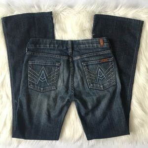 7 For All Mankind A Pocket Bootcut Jeans Size 27